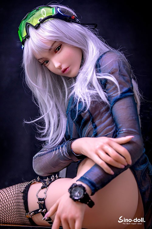 Purnima 158CM 5FT2  Silver Hair Sino Silicone Sex Doll