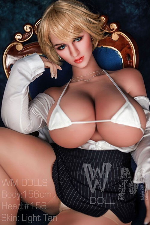 Kristin 156CM 5FT1 Blonde Big Breast Black Dress Sex Dolls