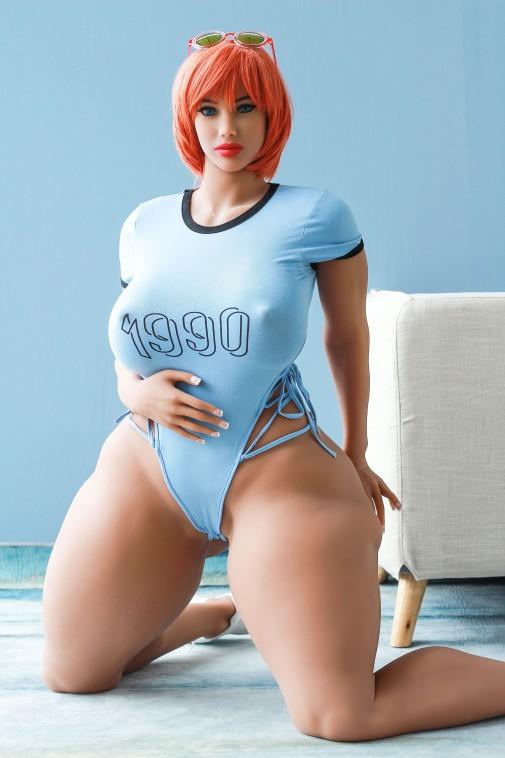 Brianna 163CM 5FT3 Orange Hair Big Boobs And Huge Ass Sex Doll