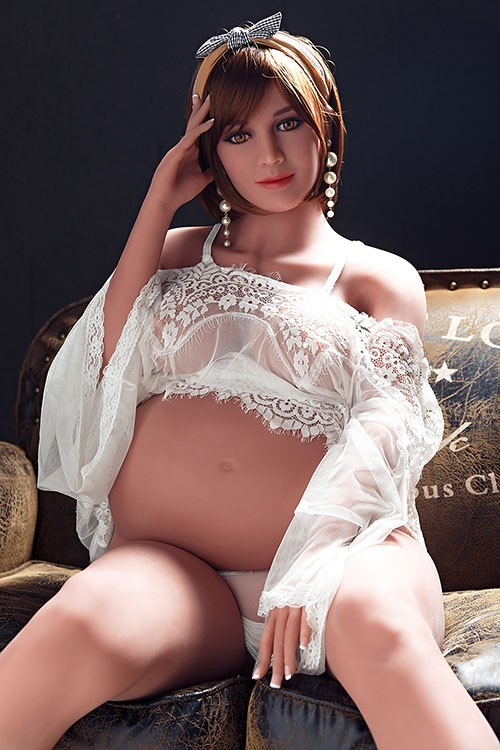 Olamide 158CM 5FT2 In White Dress  Pregnant And Milf Real Sex Doll