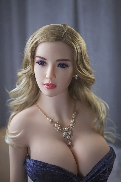 Callie 165CM 5FT4 Pearl Necklace Blue Dress Giant Tits Sex Doll