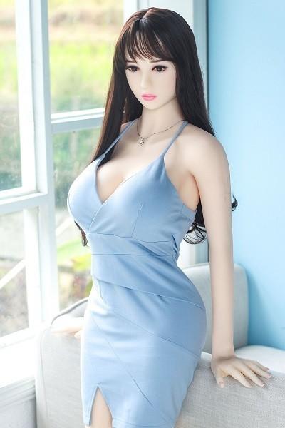 Kanako 158CM 5FT2 Blue Sundress White Skin Beauty Japanese Adult Doll