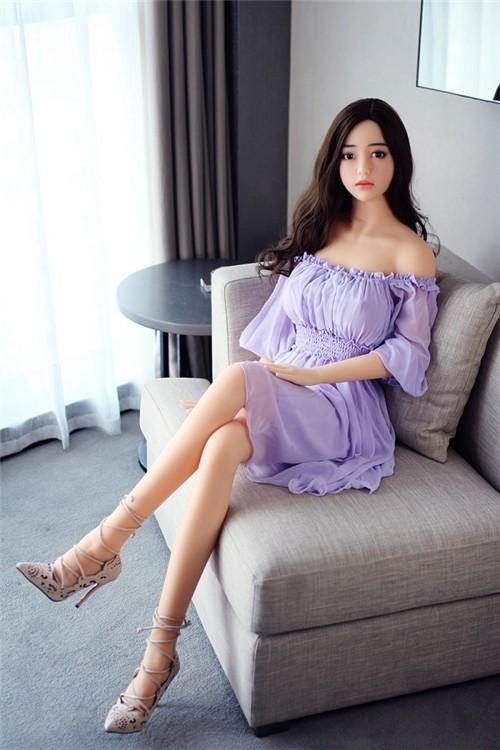 Enxi 168CM 5FT5 Purple Skirt Elegant Korean Style Realistic Sex Doll